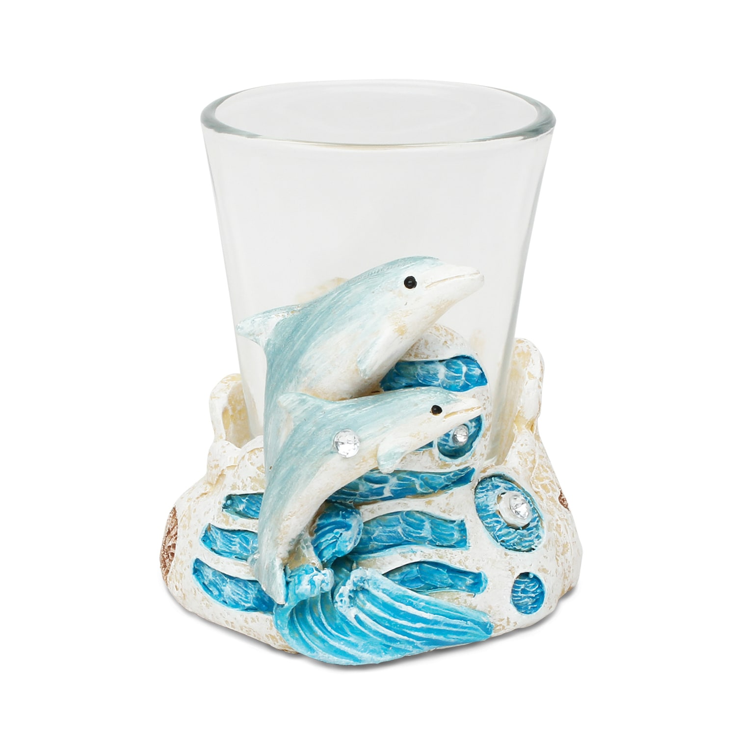 Puzzled Inc. Stone-look Dolphin Shot Glass (Product size:...