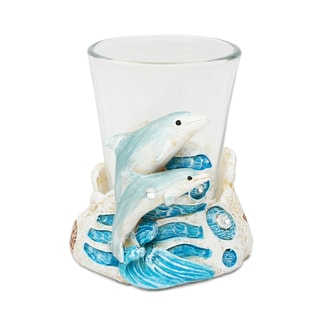 Puzzled Inc. Stone-look Dolphin Shot Glass