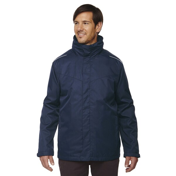 Region 3-In-1 Mens Classic Navy 849 Jacket with Fleece Liner