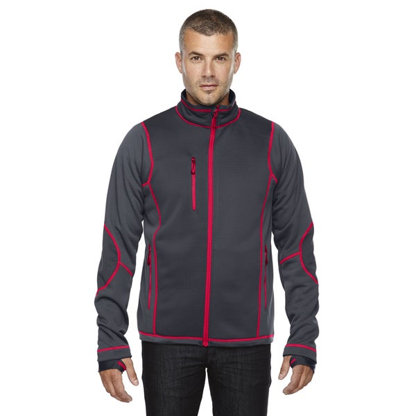 Pulse Textured Bonded Fleece Men's With Print Carbon/Oly Rd 467 Jacket with Fleece Liner