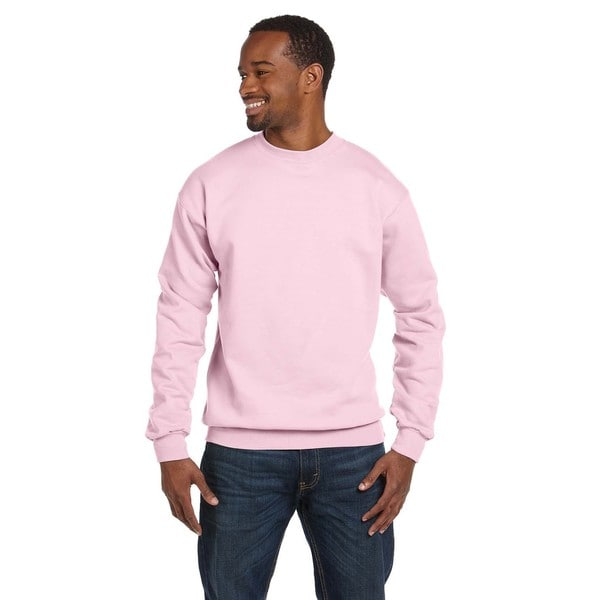 Comfortblend Ecosmart 50/50 Fleece Men's Crew-Neck Pale Pink ...