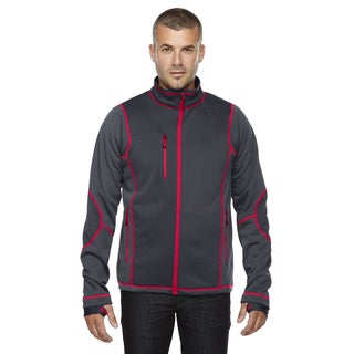 Pulse Textured Bonded Fleece Men's Big and Tall With Print Carbon/Oly Rd 467 Jacket