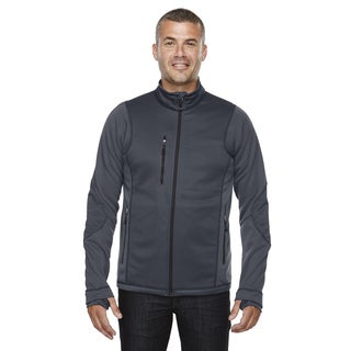 Pulse Textured Bonded Fleece Men's Big and Tall With Print Carbon 456 Jacket