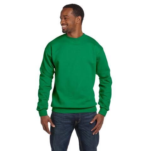 Comfortblend Ecosmart 50/50 Fleece Men's Crew-Neck Kelly Green Sweater