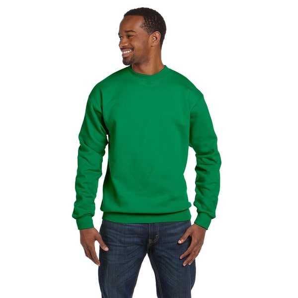 Comfortblend Ecosmart 50/50 Fleece Mens Crew-Neck Kelly Green Sweater