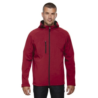 Prospect Two-Layer Fleece Bonded Soft Shell Hooded Men's Big and Tall Molten Red 751 Jacket