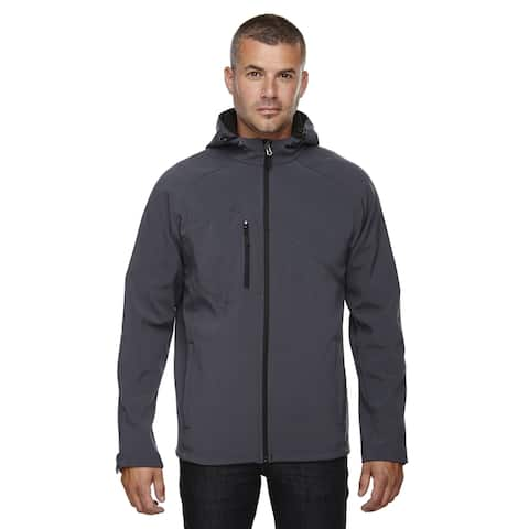 Prospect Two-Layer Fleece Bonded Soft Shell Hooded Men's Fossil Grey 887 Jacket