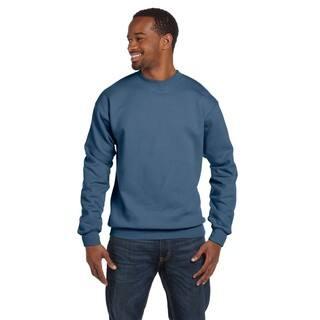 Comfortblend Ecosmart 50/50 Fleece Men's Crew-Neck Denim Blue Sweater https://ak1.ostkcdn.com/images/products/12555748/P19356419.jpg?impolicy=medium