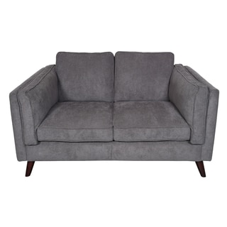 Porter Chelsea Charcoal Grey Mid-Century Modern Loveseat