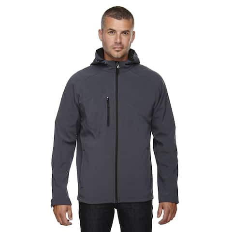 Prospect Two-Layer Fleece Bonded Soft Shell Hooded Men's Big and Tall Fossil Grey 887 Jacket