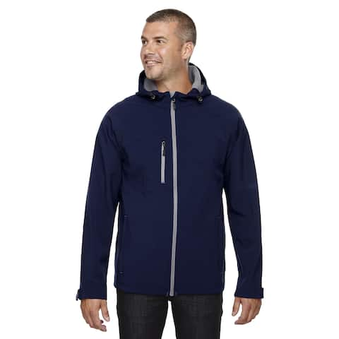 Prospect Two-Layer Fleece Bonded Soft Shell Hooded Men's Classic Navy 849 Jacket