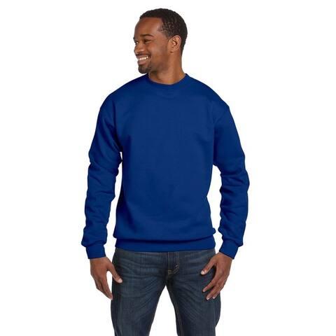 Comfortblend Ecosmart 50/50 Fleece Men's Crew-Neck Deep Royal Sweater