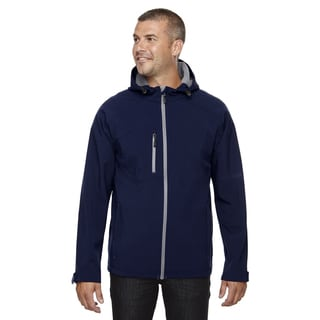 Prospect Two-Layer Fleece Bonded Soft Shell Hooded Men's Big and Tall Classic Navy 849 Jacket