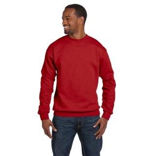 Comfortblend Ecosmart 50/50 Fleece Men's Crew-Neck Deep Red Sweater
