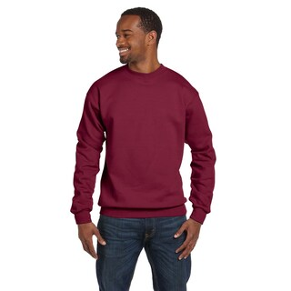 Comfortblend Ecosmart 50/50 Fleece Men's Crew-Neck Cardinal Sweater