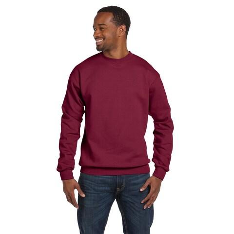 Comfortblend Ecosmart 50/50 Fleece Men's Crew-Neck Cardinal Sweater