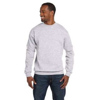 Comfortblend Ecosmart 50/50 Fleece Men's Crew-Neck Ash Sweater