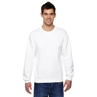 Sofspun Crew-Neck Men's White Sweatshirt