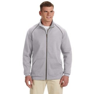 Premium Cotton 9-Ounce Fleece Full-Zip Men's Big and Tall Sport Grey Jacket