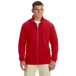 Premium Cotton 9-Ounce Fleece Full-Zip Men's Red Jacket