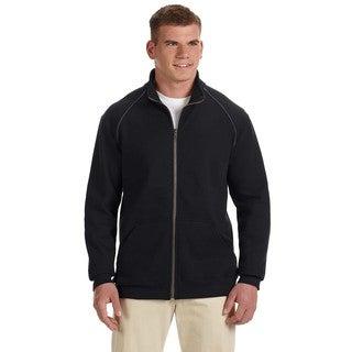 Premium Cotton 9-Ounce Fleece Full-Zip Men's Black Jacket