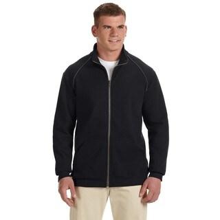 Premium Cotton 9-Ounce Fleece Full-Zip Men's Big and Tall Black Jacket
