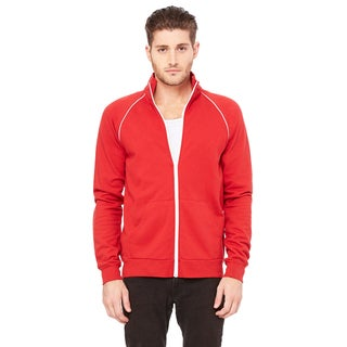 Piped Fleece Men's Red Jacket