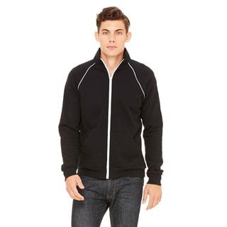 Piped Fleece Men's Black Jacket