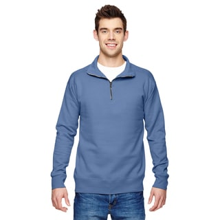 Quarter-Zip Men's Vintage Denim Sweater