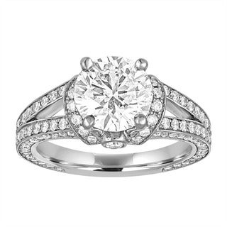 Life More Dazzling Size 6 Platinum 3 1/4ct TDW AGS Certified Diamond Ring By Life More Dazzling (I-J, SI1-SI2)