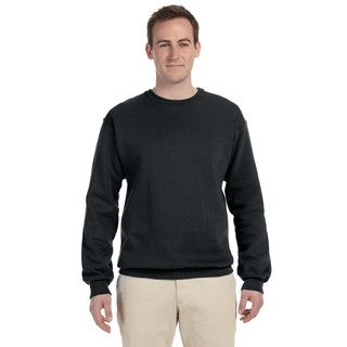 Supercotton 70/30 Fleece Men's Crew-Neck Black Sweater