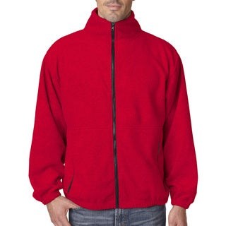 Iceberg Fleece Full-Zip Men's Big and Tall Red Jacket
