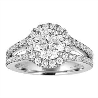 Size 6 Platinum 2 3/4ct TDW AGS Certified Diamond Ring By Life More Dazzling (I-J, SI1-SI2)