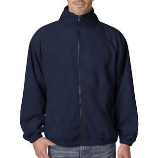 Iceberg Fleece Full-Zip Men's Big and Tall Navy Jacket