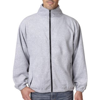 Iceberg Fleece Full-Zip Men's Big and Tall Grey Heather Jacket
