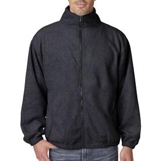 Iceberg Fleece Full-Zip Men's Big and Tall Charcoal Jacket