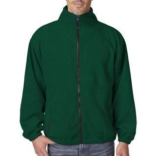 Iceberg Fleece Full-Zip Men's Forest Green Jacket