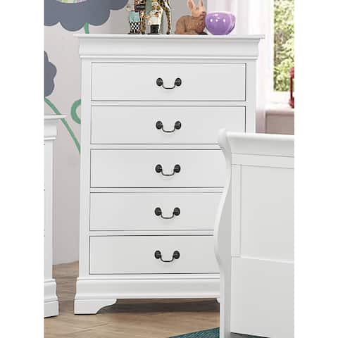 Coaster Company Louis Philippe White 5-drawer Chest
