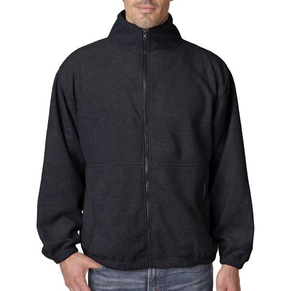 Iceberg Fleece Full-Zip Mens Black Jacket