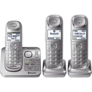 Panasonic KX-TGL463S Link2Cell Bluetooth Cordless (3) Handsets + Answering Machine, Silver
