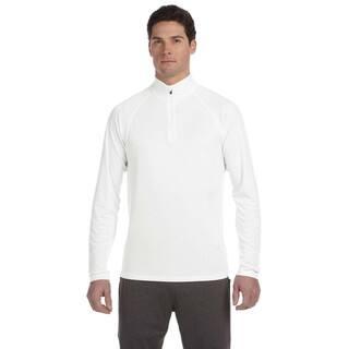 Quarter-Zip Men's Lightweight Pullover White Sweater