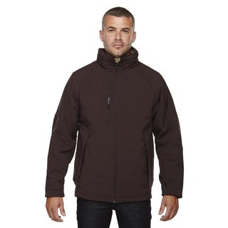 Glacier Insulated Three-Layer Fleece Bonded Soft Shell Men's With Detachable Hood Dark Chocolte 672 Jacket
