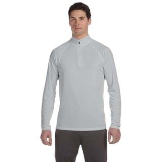 Quarter-Zip Men's Lightweight Pullover Sport Silver Sweater