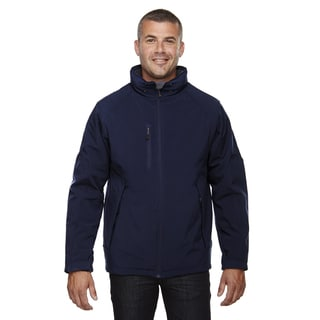 Glacier Insulated Three-Layer Fleece Bonded Soft Shell Men's With Detachable Hood Classic Navy 849 Jacket