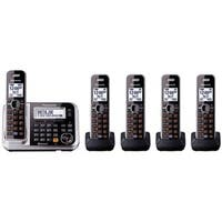 Panasonic KX-TG7875S Link2Cell Bluetooth Enabled Phone, Black/Silver