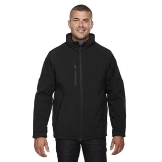 Glacier Insulated Three-Layer Fleece Bonded Soft Shell Men's With Detachable Hood Black 703 Jacket