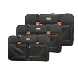 Xinix Pullman Black Polyester 3-piece Luggage Pack
