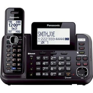 Panasonic KX-TG9541B Link2Cell 2-Line Bluetooth Cordless Phone + Answering Machine and Handset|https://ak1.ostkcdn.com/images/products/12556237/P19356545.jpg?impolicy=medium