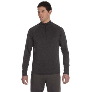 Quarter-Zip Men's Lightweight Pullover Dark Grey Heather Sweater