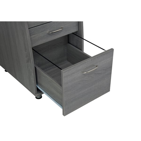 Modern Designs Grey Mdf Multifunctional Office Desk With File